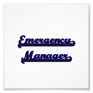 Emergency Manager Classic Job Design Photo Art