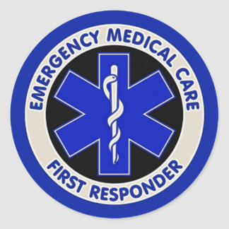 Emergency Medical Care First Responder Round Sticker