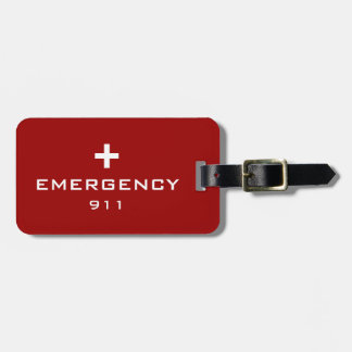 Emergency Medical ID Luggage Tag