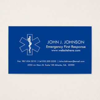 Emergency Medical Services Business Card