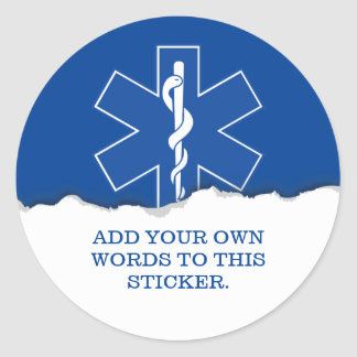 Emergency Medical Services Custom Classic Round Sticker