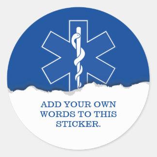 Emergency Medical Services Custom Round Sticker