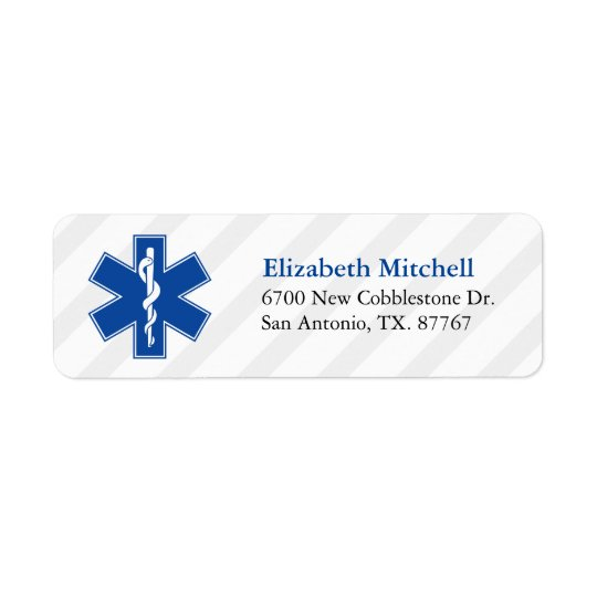 Emergency Medical Services Return Address Label