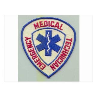 EMERGENCY MEDICAL TECHNICIAN EMT POSTCARD