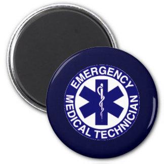 EMERGENCY MEDICAL TECHNICIANS EMT 2 INCH ROUND MAGNET