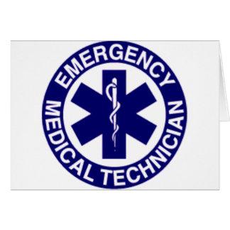 EMERGENCY MEDICAL TECHNICIANS EMT GREETING CARD