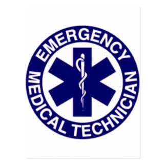 EMERGENCY MEDICAL TECHNICIANS EMT POSTCARD