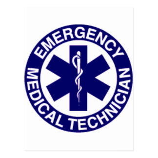 EMERGENCY MEDICAL TECHNICIANS EMT POSTCARDS
