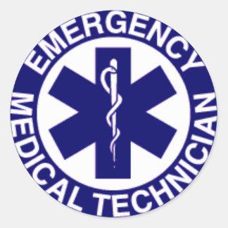 EMERGENCY MEDICAL TECHNICIANS EMT ROUND STICKER