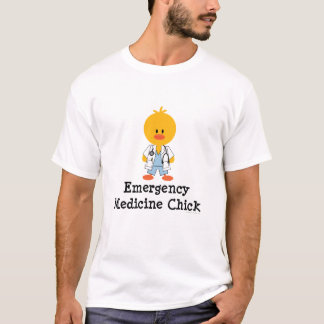 Emergency Medicine Chick Crew Neck T shirt