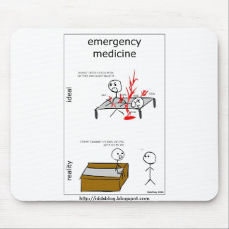 Emergency Medicine Comic Mousepad