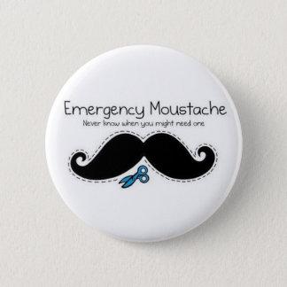 Emergency moustache 2 inch round button
