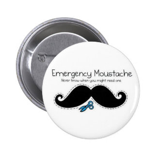 Emergency moustache 2 inch round button