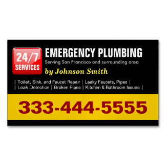 Emergency Plumbing Call - Plumber Fridge Magnet