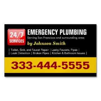 Emergency Plumbing Call - Plumber Fridge Magnet Business Card Magnet