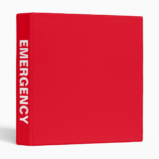 Emergency Preparedness Big Bold Name binder