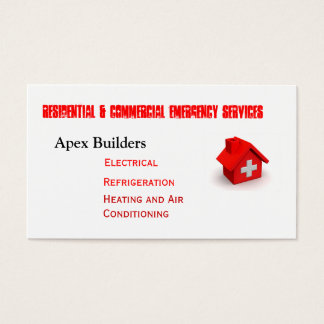 Emergency Service Calls Business Card
