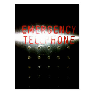 Emergency Telephone Postcard