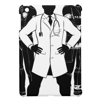 Emergency Workers Team Silhouettes iPad Mini Case