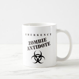Emergency Zombie Antidote Classic White Coffee Mug
