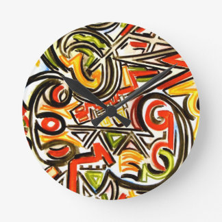 Emerging Butterfly-Abstract Art Hand Painted Clocks