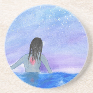 Emerging From The Water Beverage Coaster
