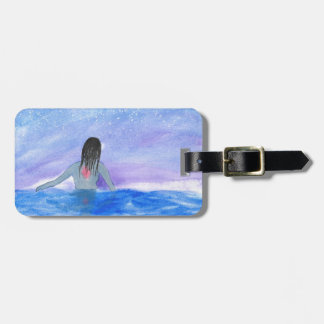 Emerging From The Water Luggage Tag