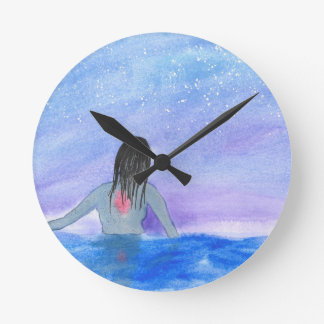 Emerging From The Water Wall Clocks