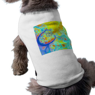 Emerging Galaxies – Teal & Lime Currents Dog Shirt