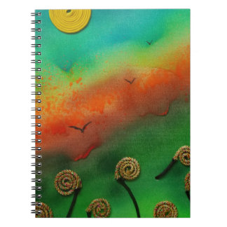 Emerging Snail flowers Spiral Notebook