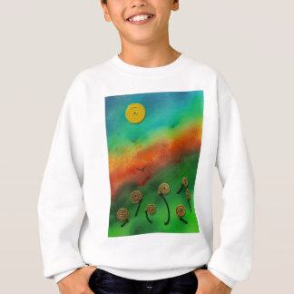 Emerging Snail flowers Sweatshirt