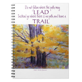 Emerson Inspiration Watercolor Art Spiral Notebook