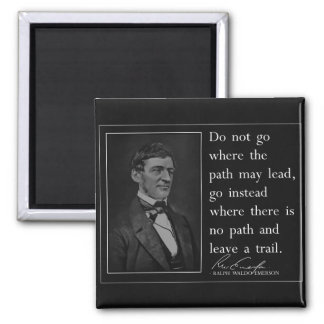 Emerson '...leave a trail' Quote Square Magnet