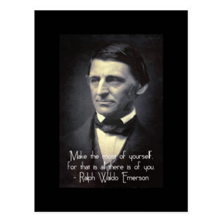 Emerson - Make the most of yourself quote postcard