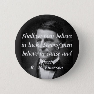 Emerson on Strong People 2 Inch Round Button