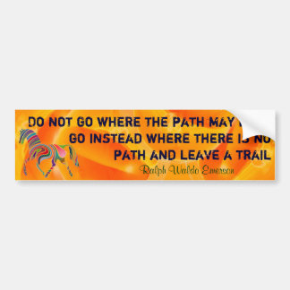 Emerson quote bumper sticker
