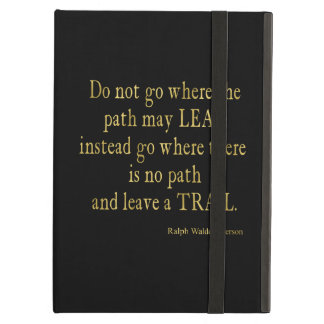 Emerson Quote Gold Faux Glitter Inspirational Cover For iPad Air