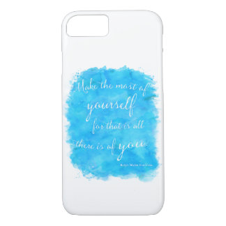 Emerson Quote Make Most Of Yourself Watercolor iPhone 8/7 Case
