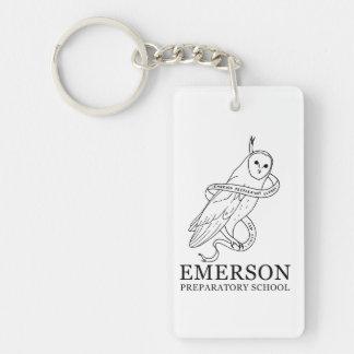Emerson Rectangular Keychain (Owl)