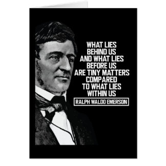 Emerson - What lies within us Quote Card