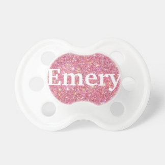 """""""Emery"""" Personalized Name Glitter Pacifier"""