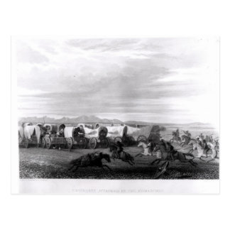 Emigrants attacked by the Comanches Postcard