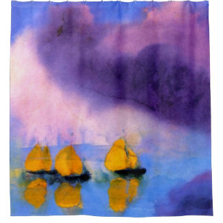 Emil Nolde - Sea with Violet Clouds And Sailboats