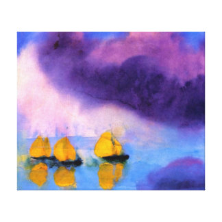 Emil Nolde - Sea with Violet Clouds And Sailboats Canvas Print