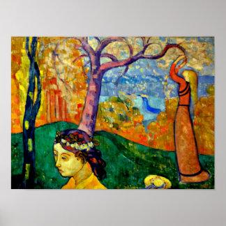 Emile Bernard - Springtime Poster