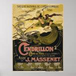 Emile Bertrand poster Jules Massenet's Cendrillon