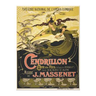 Emile Bertrand poster Jules Massenet's Cendrillon Canvas Print