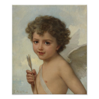 Émile Munier Amor with arrow shaft CC0089 Poster
