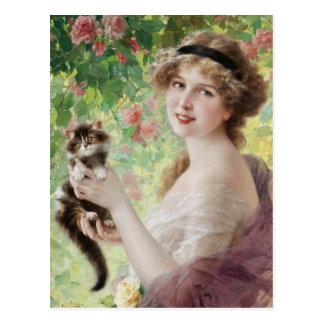 Emile Vernon Precious Kitten Postcard