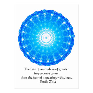 Emile Zola Animal Rights Quote, Saying Postcard